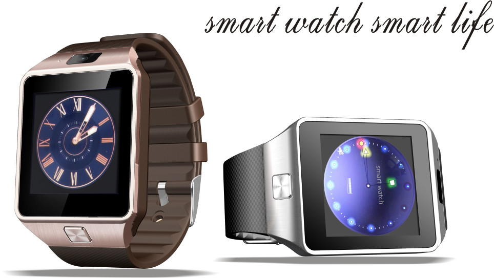 Multifunctional 1.54inch bluetooth DZ09 Android smart watch phone